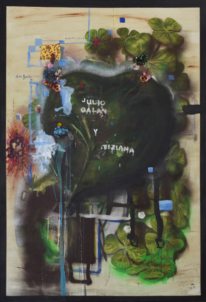 Art work by Julio Galan, Tiziana, painting, 75 x 51 3/4 inches (191 x 131.5 cm)