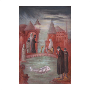 Art work by Leonora Carrington, March Sunday, painting, 91.5 x 61 cm