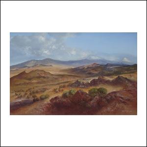 Art work by Luis Nishizawa, Paisaje del Valle, painting, 81.5 x 124.5 cm