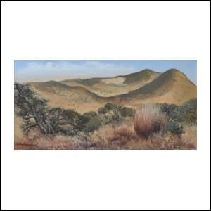 Art work by Luis Nishizawa, Vista de Xochiltepec, painting, 7 3/4 x 15 3/4 inches (20 x 40 cm)