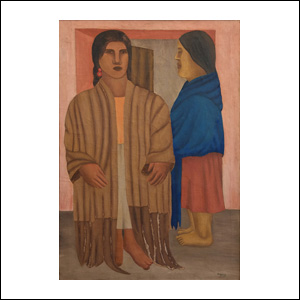 Art work by Manuel Rodriguez Lozano, Mujeres con rebozo (Women with shawl), painting, 36 1/4 x 25 1/4 in (92.5 x 64 cm)