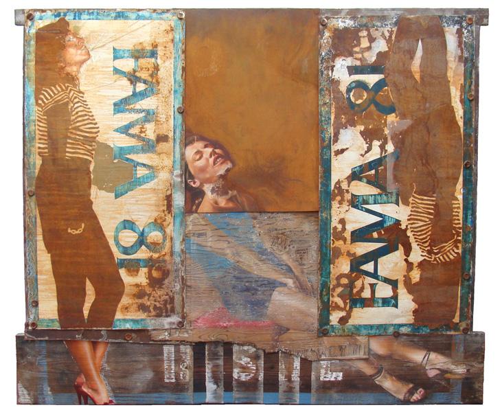 Art work by Rafael Cauduro, Fama 81, painting, 163 x 197 cm