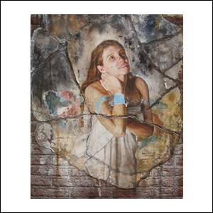 Art work by Rafael Cauduro, La Hermosa Herencia de Beto, painting, 48.75 x 39.5 x 2 inches (124 x 100.5 x 5 cm)