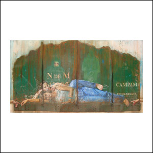 Art work by Rafael Cauduro, Nacionales de Mexico, painting, 160 x 300 cm