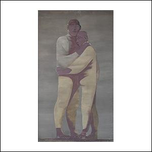 Art work by Ricardo Martinez de Hoyos, El abrazo, painting, 150 x 85 cm