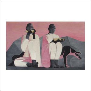 Art work by Ricardo Martinez de Hoyos, Los Elotes (Corns), painting, 35.5 x 59 in (90 x 150 cm)