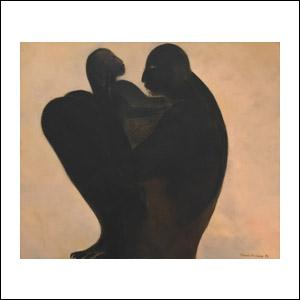 Art work by Ricardo Martinez de Hoyos, Maternidad, 1983, painting, 50 x 60 cm