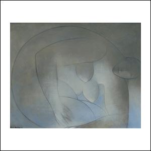 Art work by Ricardo Martinez de Hoyos, Mujer, painting, 50 x 60 cm