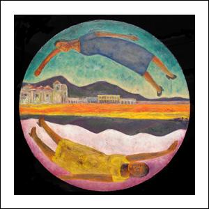 Art work by Rodolfo Morales, DOS MUNDOS, painting, 80 cm