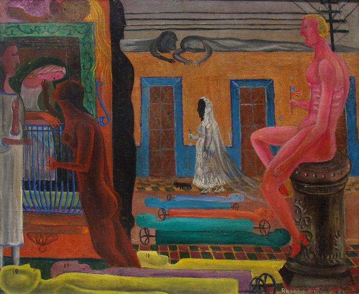 Art work by Rodolfo Morales, LA NOVIA, painting, 50.5 x 60 cm