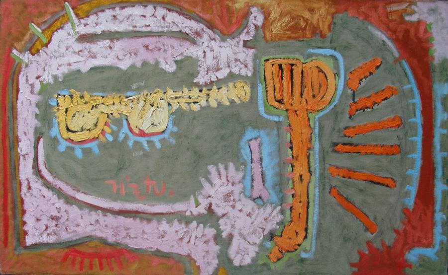Art work by Rodolfo Nieto, Carnaval II, painting, 79 x 112 cm