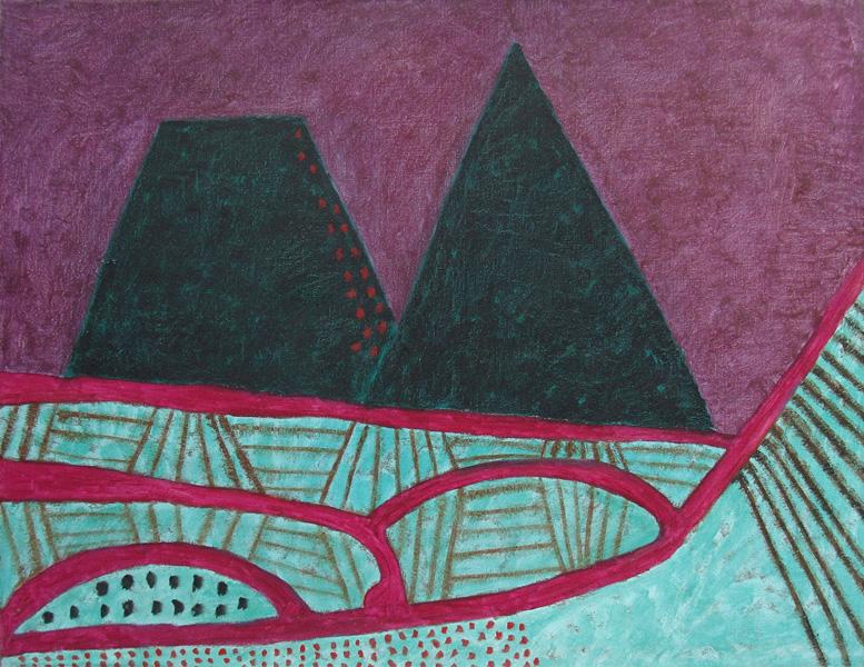 Art work by Rodolfo Nieto, Paisaje Abstracto II, painting, 89 x 115 cm