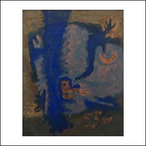 Art work by Rodolfo Nieto, Untitled, 1963, painting, 28.85 x 23 in (73.3 x 58.4 cm)
