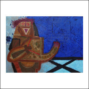 Art work by Rodolfo Nieto, Architect (Arquitecto), painting, 38.4 x 51.2 in (97.5 x 130 cm)