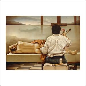 Art work by Santiago Carbonell, Pintor Construyendo y Olvidando sus Pecados, painting, 115.5 x 160 cm