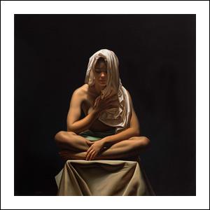 Art work by Santiago Carbonell, Sinfonía de Luz, painting, 47.25 x 47.25 inches (120 x 120 cm)