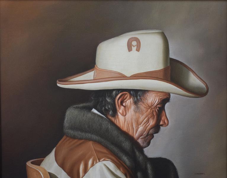 Art work by Santiago Carbonell, Velador, painting, 15 3/4 x 19 3/4 (40 x 50 cm)
