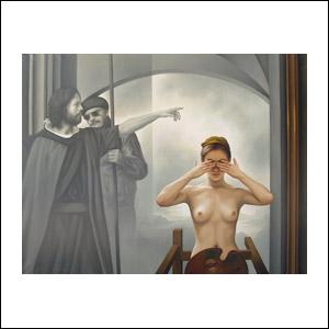 Art work by Santiago Carbonell, Vox Dei, painting, 130 x 170 cm