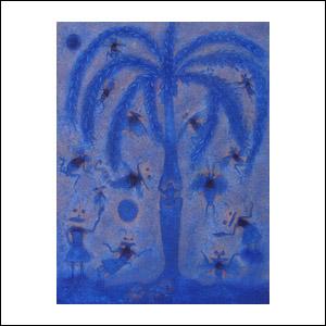 Art work by Sergio Hernandez, Mazunte, painting, 50.75 x 38.2 in (129 x 97 cm)