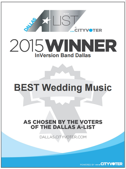 Voted Best Wedding Music Dallas City Voter