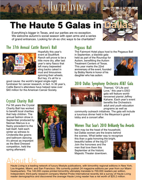 Pegasus Ball - A Dallas Top Haute 5 Gala Fundraiser