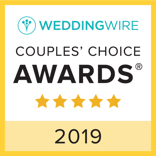 WeddingWire 2019 Couples Choice Award winner for best wedding