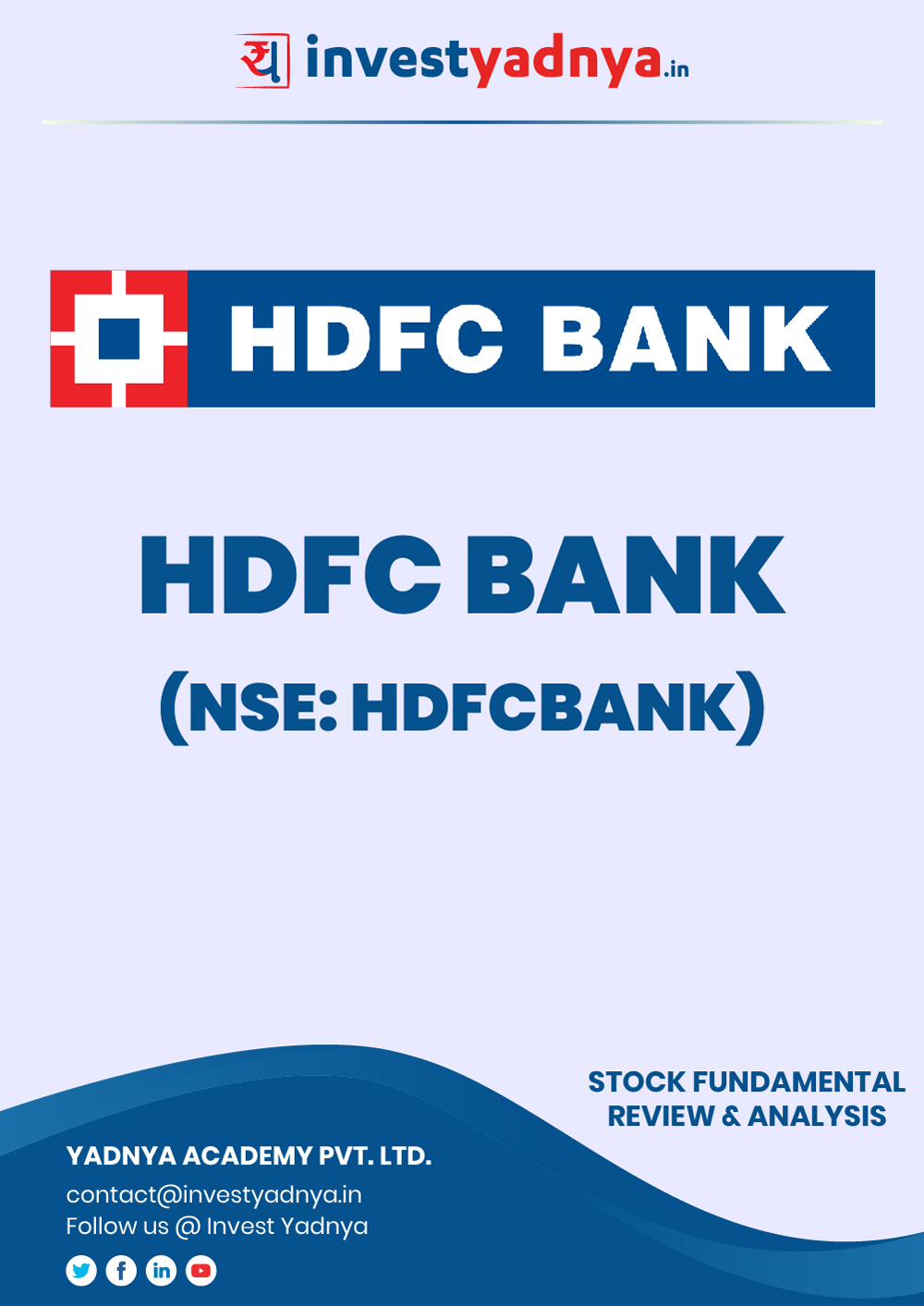 This e-book contains in-depth fundamental analysis of HDFC Bank Ltd considering both Financial and Equity Research Parameters. It reviews the company, industry, competitors, shareholding pattern, financials, governance and annual performance. ✔ Detailed Research ✔ Quality Reports