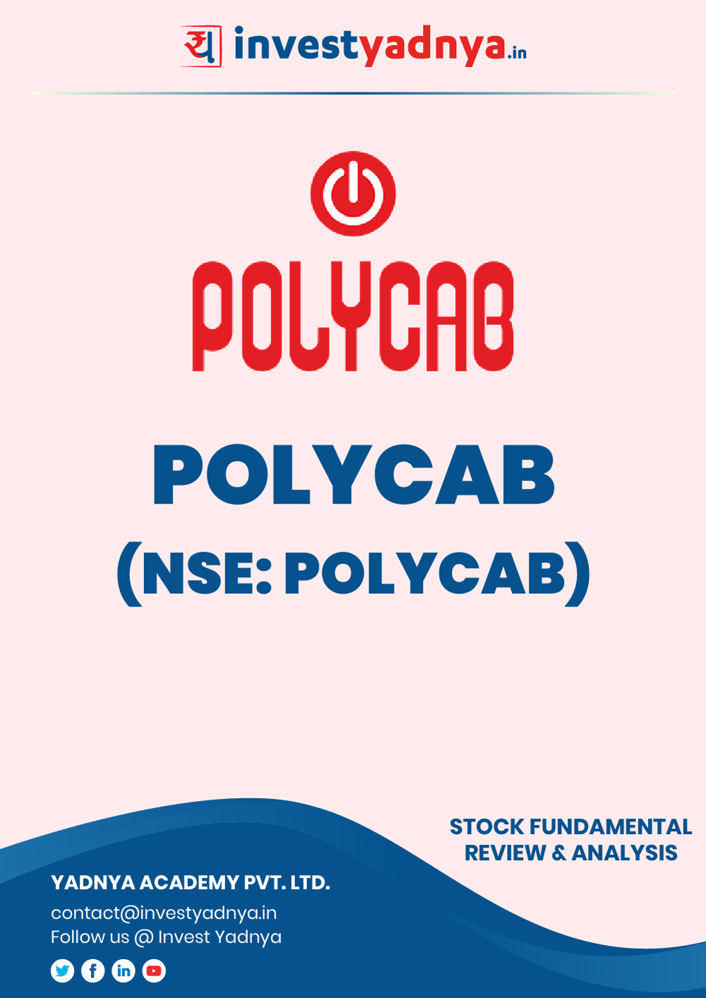 Polycab is the largest wire manufacturer in India. They have issued a new IPO recently in 2019 which was listed at high premium. Polycab India Ltd. company/Stock Review & Analysis based on Q22019-20 and FY2018-19 data. The book contains Fundamental Analysis of the company considering both Quantitative (Financial) and Qualitative parameters. Book is updated as on 25th Dec, 2019.