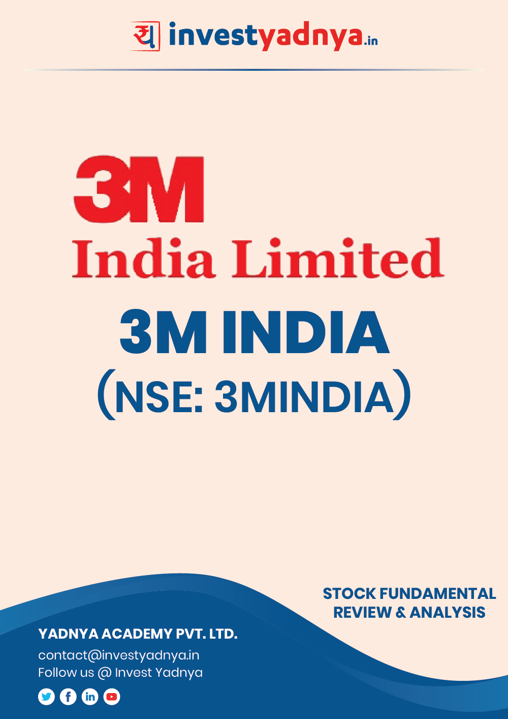 This e-book contains in-depth fundamental analysis of 3M India considering both Financial and Equity Research Parameters. It reviews the company, industry competitors, shareholding pattern, financials, and annual performance. ✔ Stock Analysis ✔ Quality Reports