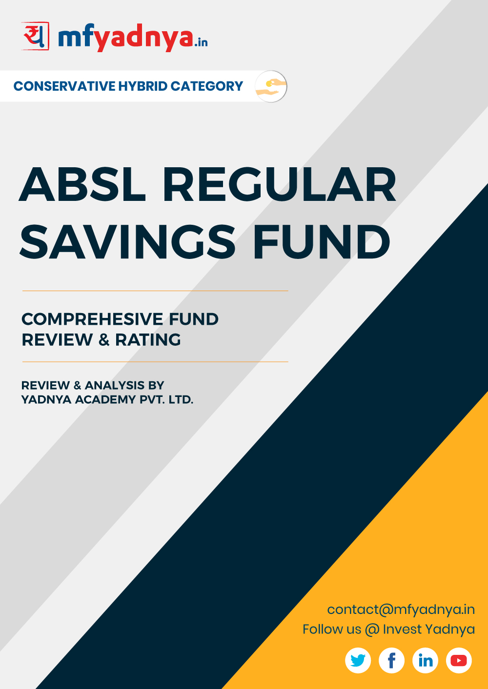 This e-book offers a comprehensive mutual fund review of ABSL Regular Saving Fund . It reviews the fund's return, ratio, allocation etc. ✔ Detailed Mutual Fund Analysis ✔ Latest Research Reports