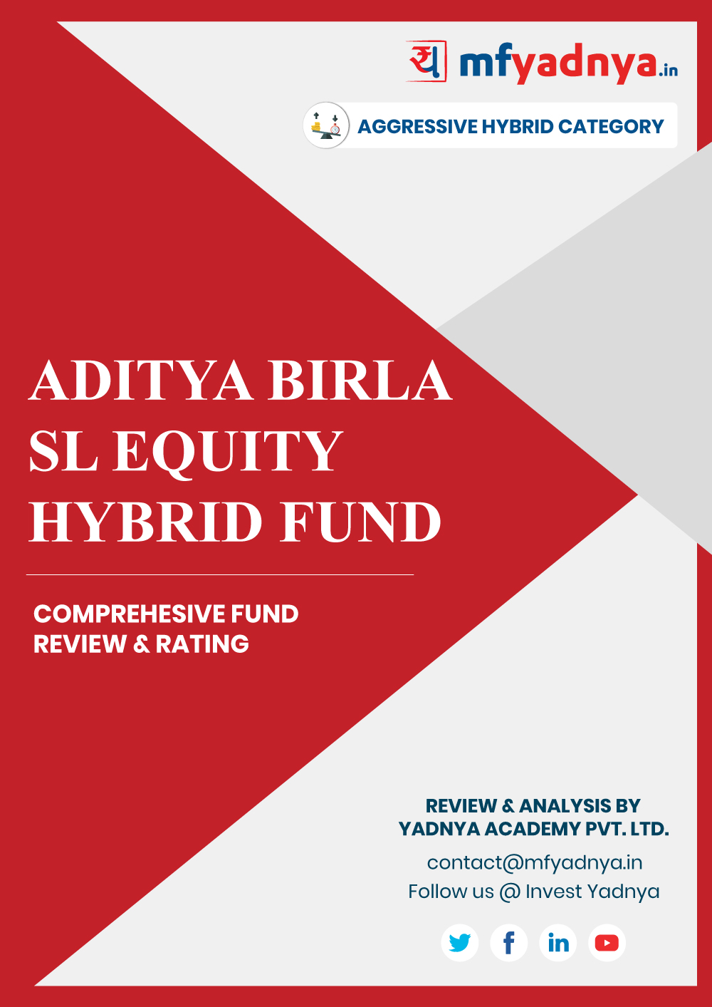 This e-book offers a comprehensive mutual fund review of ABSL Equity Advantage Fund for hybrid category. It reviews the fund's return, ratio, allocation etc. ✔ Detailed Mutual Fund Analysis ✔ Latest Research Reports