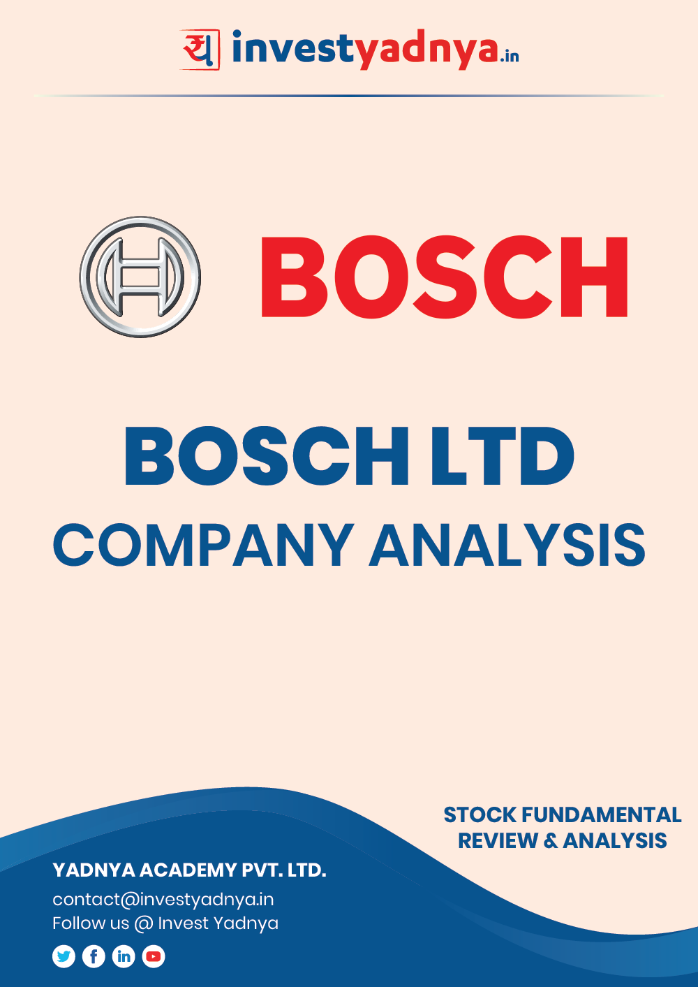 Bosch Limited - Company/Stock Review based on Q3 2020-21 and FY 2019-20 data. The ebook contains Fundamental Analysis of the company considering both Quantitative (Financial) and Qualitative Parameters. Bosch Ltd has presence in mobility solutions, consumer goods, industrial technology and energy and building technology.