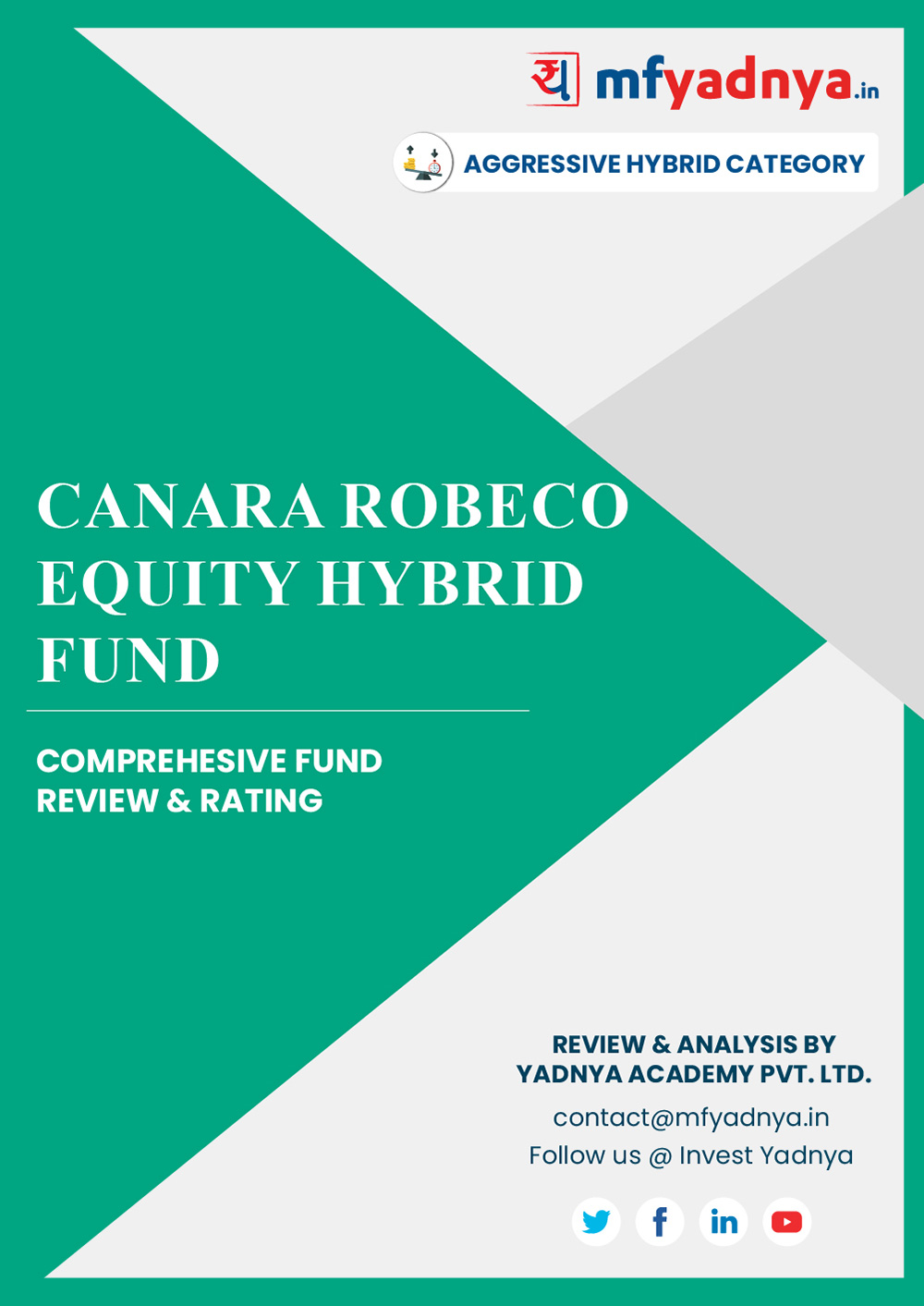 This e-book offers a comprehensive mutual fund review of Canara Robeco Equity Fund for hybrid category. It reviews the fund's return, ratio, allocation etc. ✔ Detailed Mutual Fund Analysis ✔ Latest Research Reports
