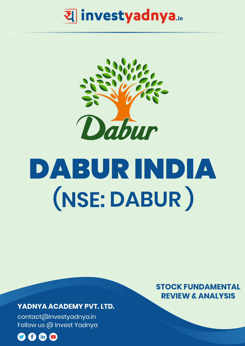 This e-book contains in-depth fundamental analysis of Dabur India Ltd. considering both Financial and Equity Research Parameters. It reviews the company, industry, competitors, shareholding pattern, financials, governance and annual performance. ✔ Detailed Research ✔ Quality Reports