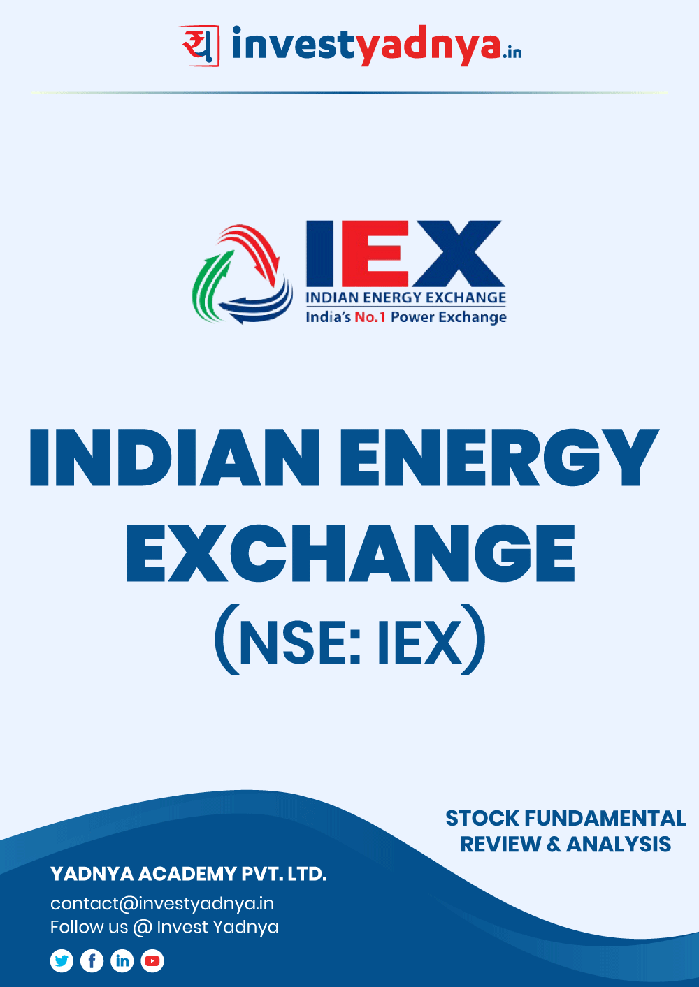 Indian Energy Exchange Ltd. Company/Stock Review & Analysis based on Q1 2020-21 and FY2019-20 data. The book contains Fundamental Analysis of the company considering both Quantitative (Financial) and Qualitative Parameters. Indian Energy Exchange is the biggest Power Exchange in India.
