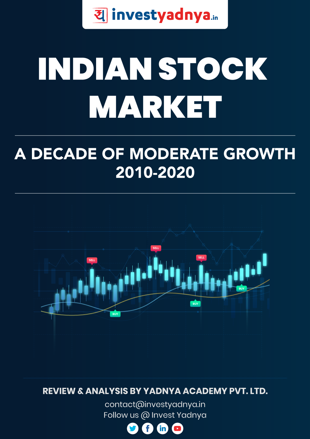 Indian Stock Market had moderate growth decade with one major recession in 2020 due to Covid. In this report, we analyzed various parameters and understood how the markets changed in last 10 years.