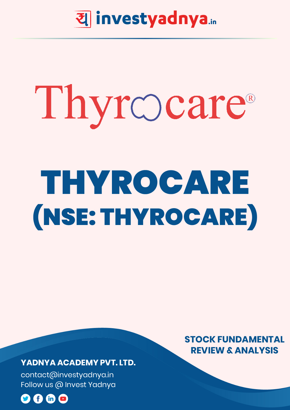 Thyrocare Technologies Ltd. Company/Stock Review & Analysis based on Q3 2019-20 and FY2018-19 data. The book contains Fundamental Analysis of the company considering both Quantitative (Financial) and Qualitative Parameters.
