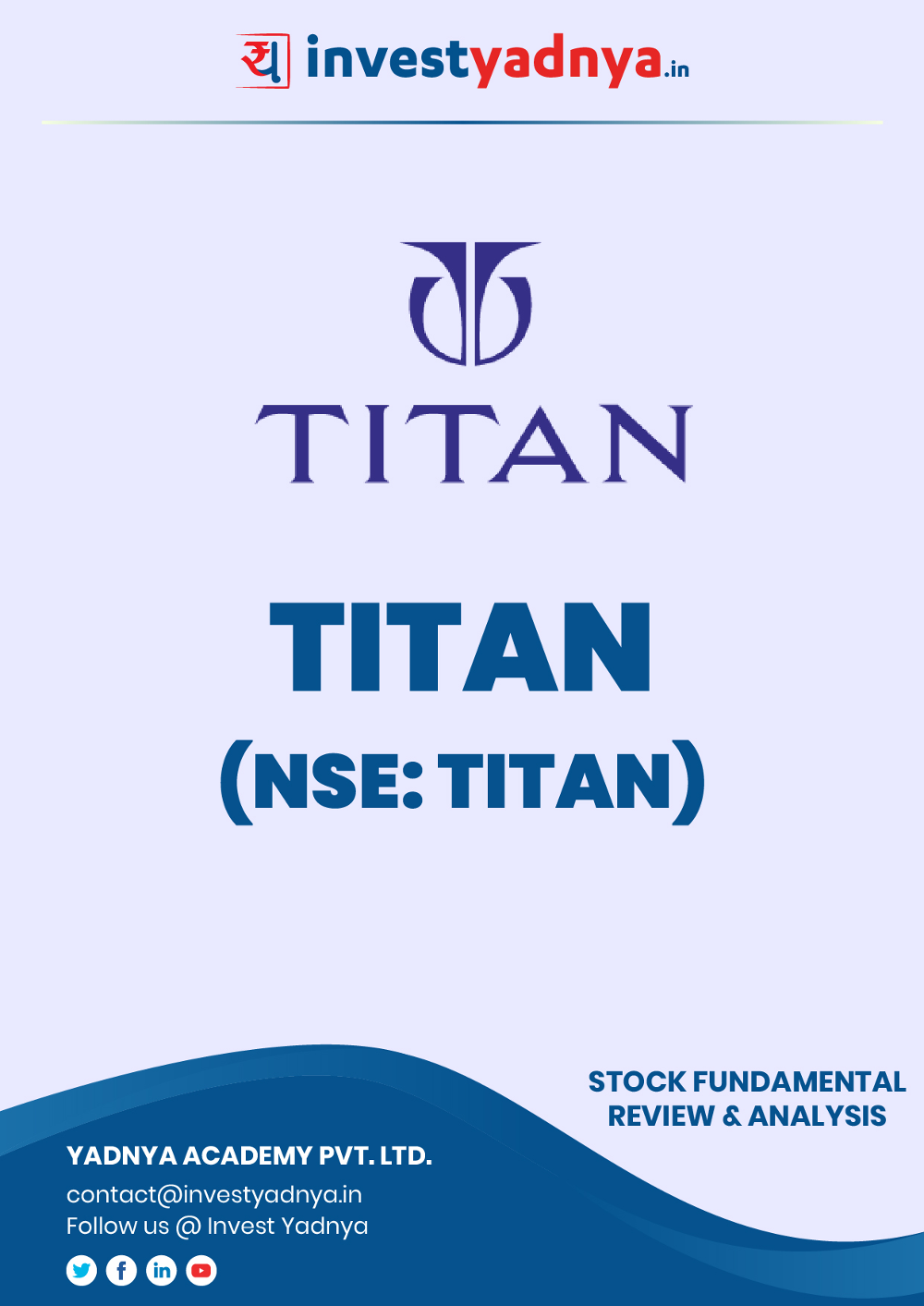 This e-book contains in-depth fundamental analysis of Titan considering both Financial and Equity Research Parameters. It reviews the company, industry competitors, shareholding pattern, financials, and annual performance. ✔ Detailed Research ✔ Quality Reports
