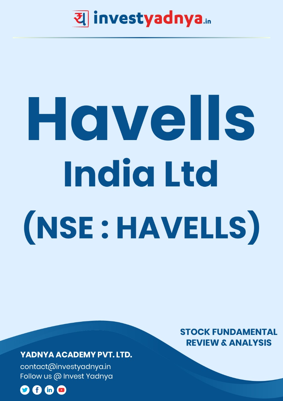 Havells India Limited - Company/Stock Review based on Q4 2020-21 and FY 2020-21 data. The ebook contains Fundamental Analysis of the company considering both Quantitative (Financial) and Qualitative Parameters. Havells is a very diversified company with presence in cables, consumer durables and electrical appliances.