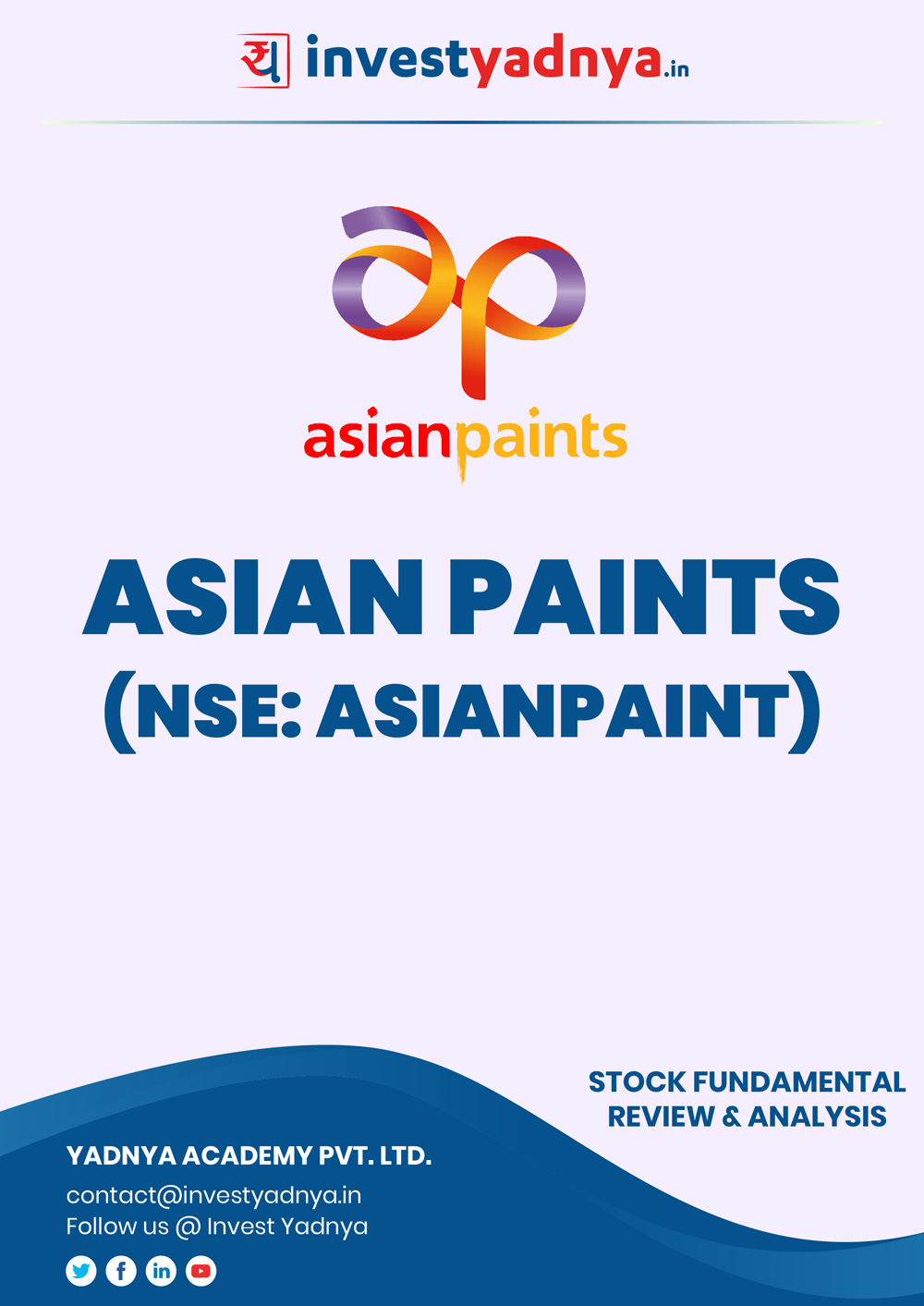 This e-book contains in-depth fundamental analysis of Asian Paints considering both Financial and Equity Research Parameters. It reviews the company, industry competitors, shareholding pattern, financials, and annual performance. ✔ Detailed Research ✔ Quality Reports