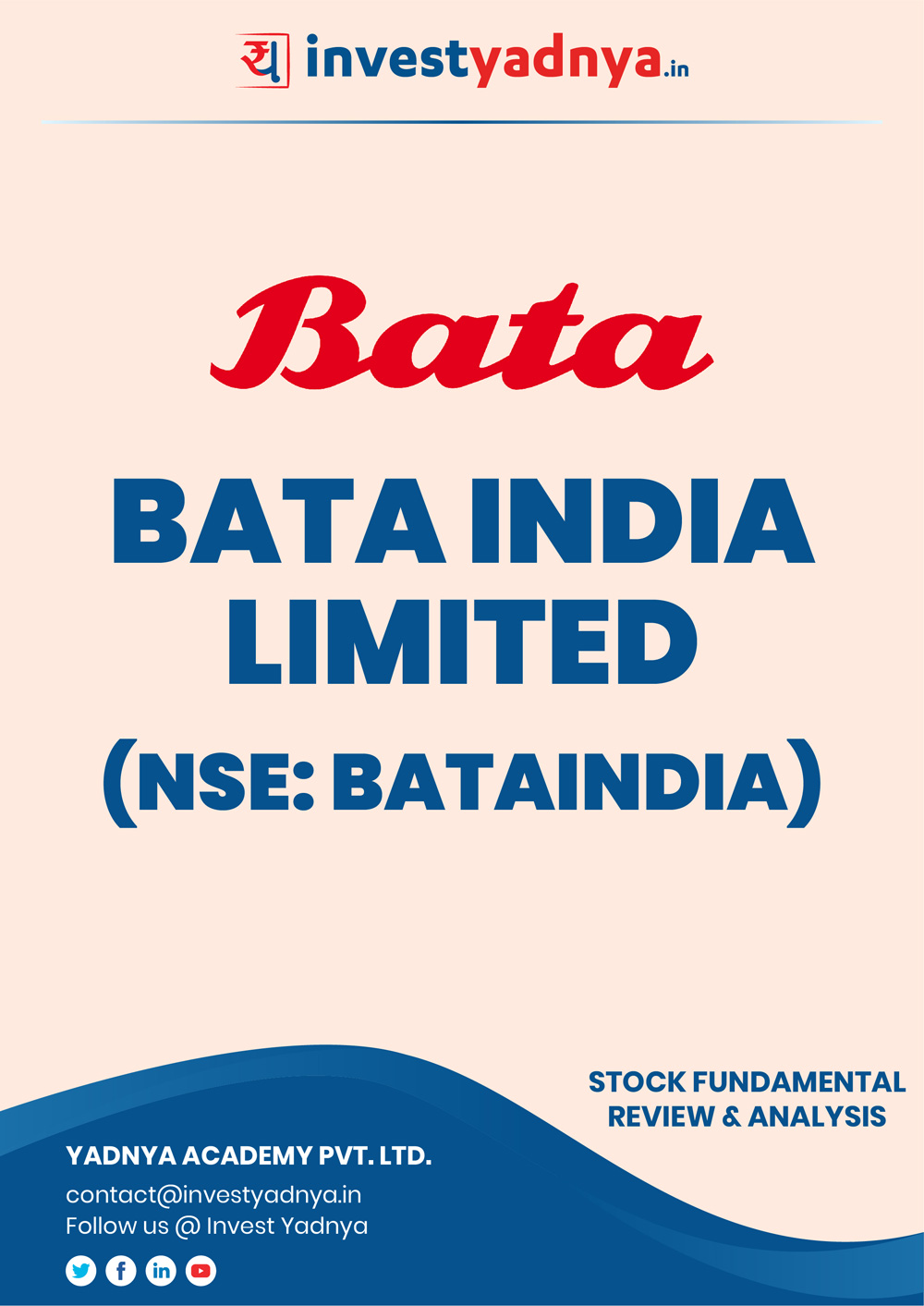 This e-book contains in-depth fundamental analysis of Bata India considering both Financial and Equity Research Parameters. It reviews the company, industry competitors, shareholding pattern, financials, and annual performance. ✔ Detailed Research ✔ Quality Reports