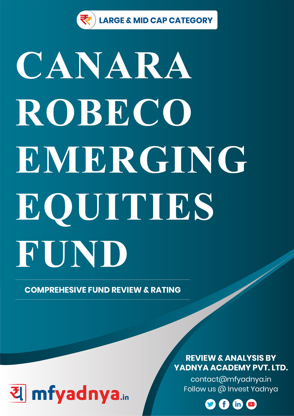 This e-book offers a comprehensive mutual fund review of Canara Robeco Emerging Equities Fund for large & mid-cap category. It reviews the fund's return, ratio, allocation etc. ✔ Detailed Mutual Fund Analysis ✔ Latest Research Reports