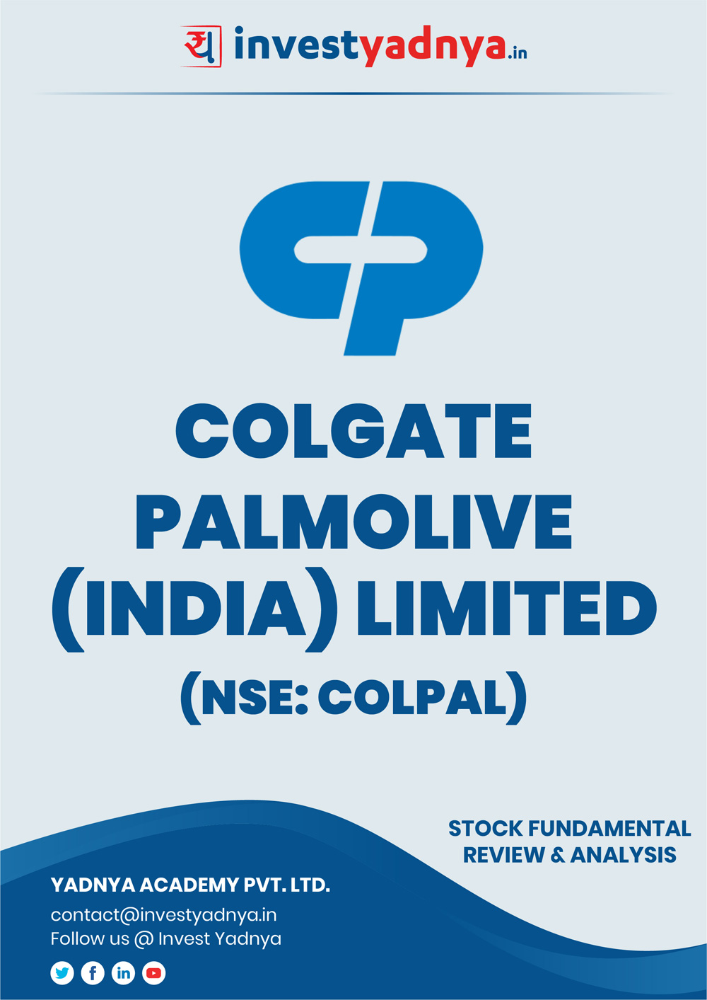 This e-book contains in-depth fundamental analysis of Colgate Palmolive considering both Financial and Equity Research Parameters. It reviews the company, industry competitors, shareholding pattern, financials, and annual performance. ✔ Detailed Research ✔ Quality Reports