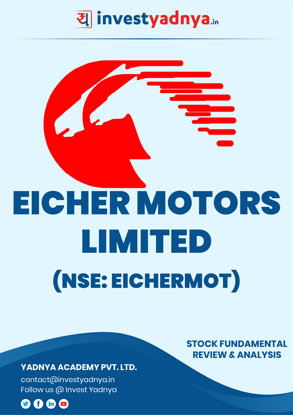 Eicher Motors Ltd Company/Stock Review & Analysis based on Q32018-19 and FY2017 18 data. The book contains Fundamental Analysis of the company considering both Quantitative (Financial) and Qualitative Parameters.