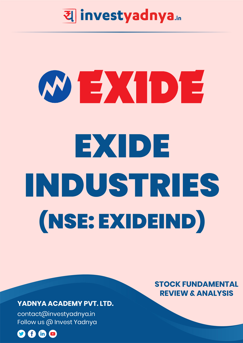 This e-book contains in-depth fundamental analysis of Exide Industries considering both Financial and Equity Research Parameters. It reviews the company, industry competitors, shareholding pattern, financials, and annual performance. ✔ Detailed Research ✔ Quality Reports