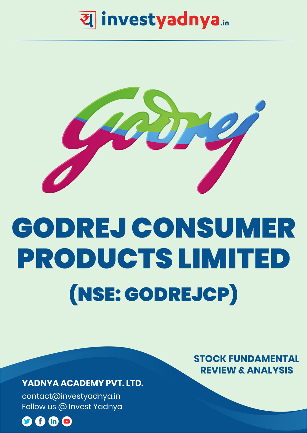 Godrej Consumer Products Ltd (GCPL) Company/Stock Review & Analysis based on Q32018-19 and FY2017 18 data. The book contains Fundamental Analysis of the company considering both Quantitative (Financial) and Qualitative Parameters.
