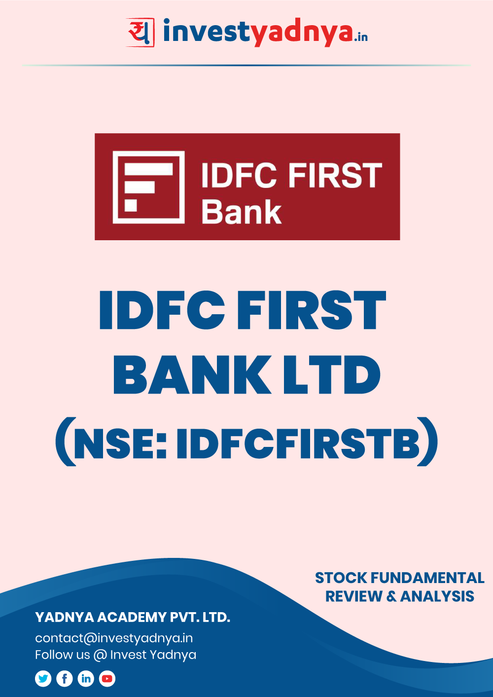 This e-book contains in-depth fundamental analysis of HDIDFC First Bank FC considering both Financial and Equity Research Parameters. It reviews the company, industry competitors, shareholding pattern, financials, and annual performance. ✔ Detailed Research ✔ Quality Reports