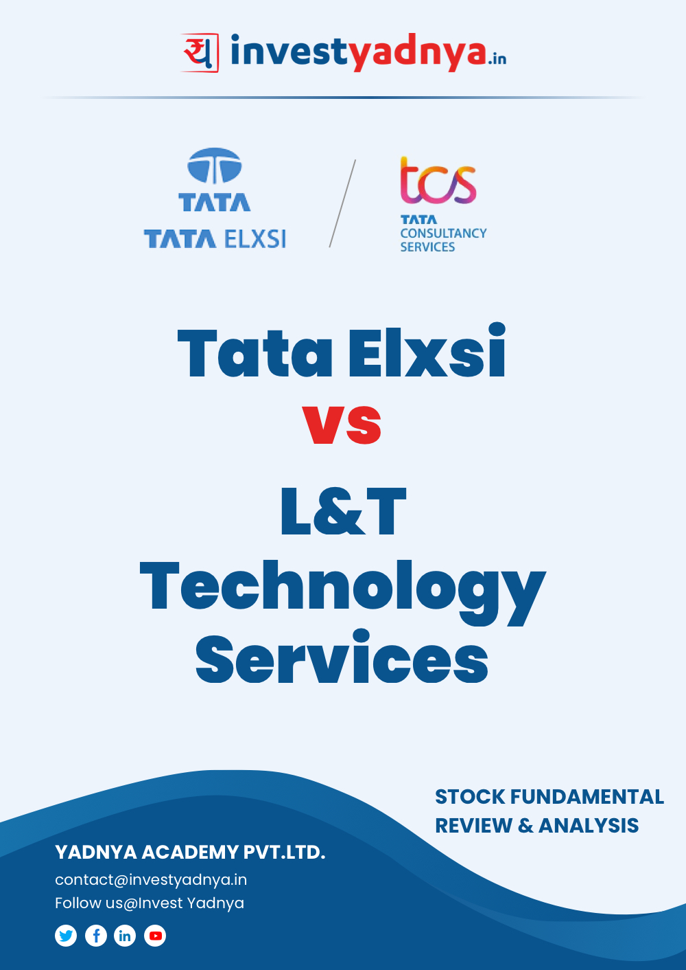 Tata Elxsi vs L&T Technology Services -  Company/Stock Review and comparison based on Q4 2020-21 and FY 2020-21 data. The ebook contains Fundamental Analysis of the companies considering both Quantitative (Financial) and Qualitative Parameters. Tata Elxsi and L&T Technology Services are leading companies in India's Engineering & R&D sector.