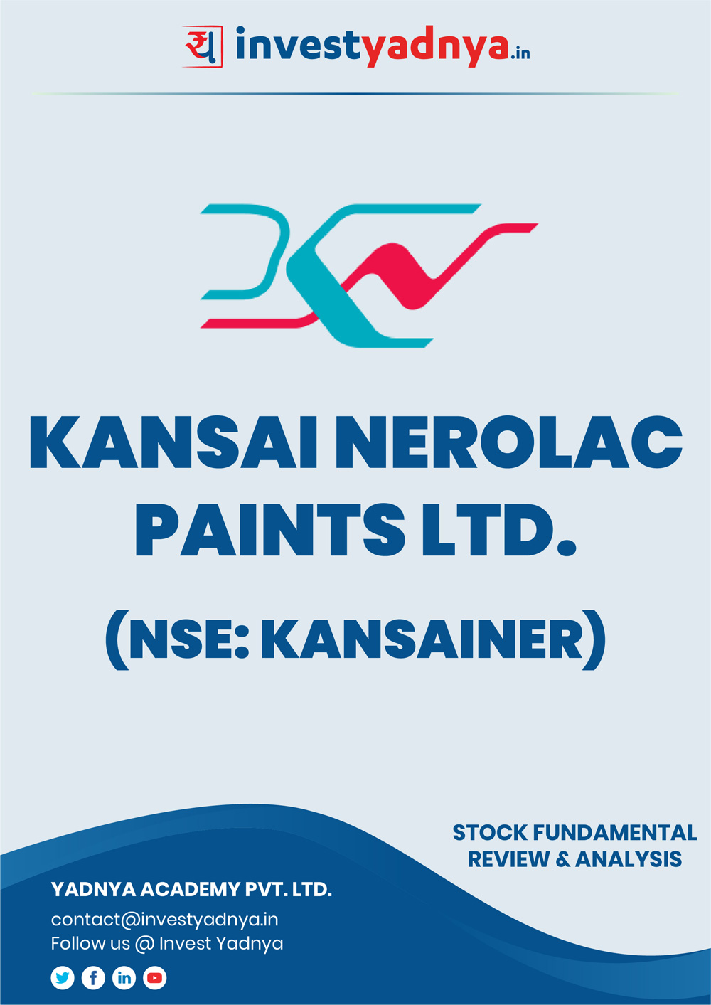 This e-book contains in-depth fundamental analysis of Kansai Nerolac Paints considering both Financial and Equity Research Parameters. It reviews the company, industry competitors, shareholding pattern, financials, and annual performance. ✔ Detailed Research ✔ Quality Reports
