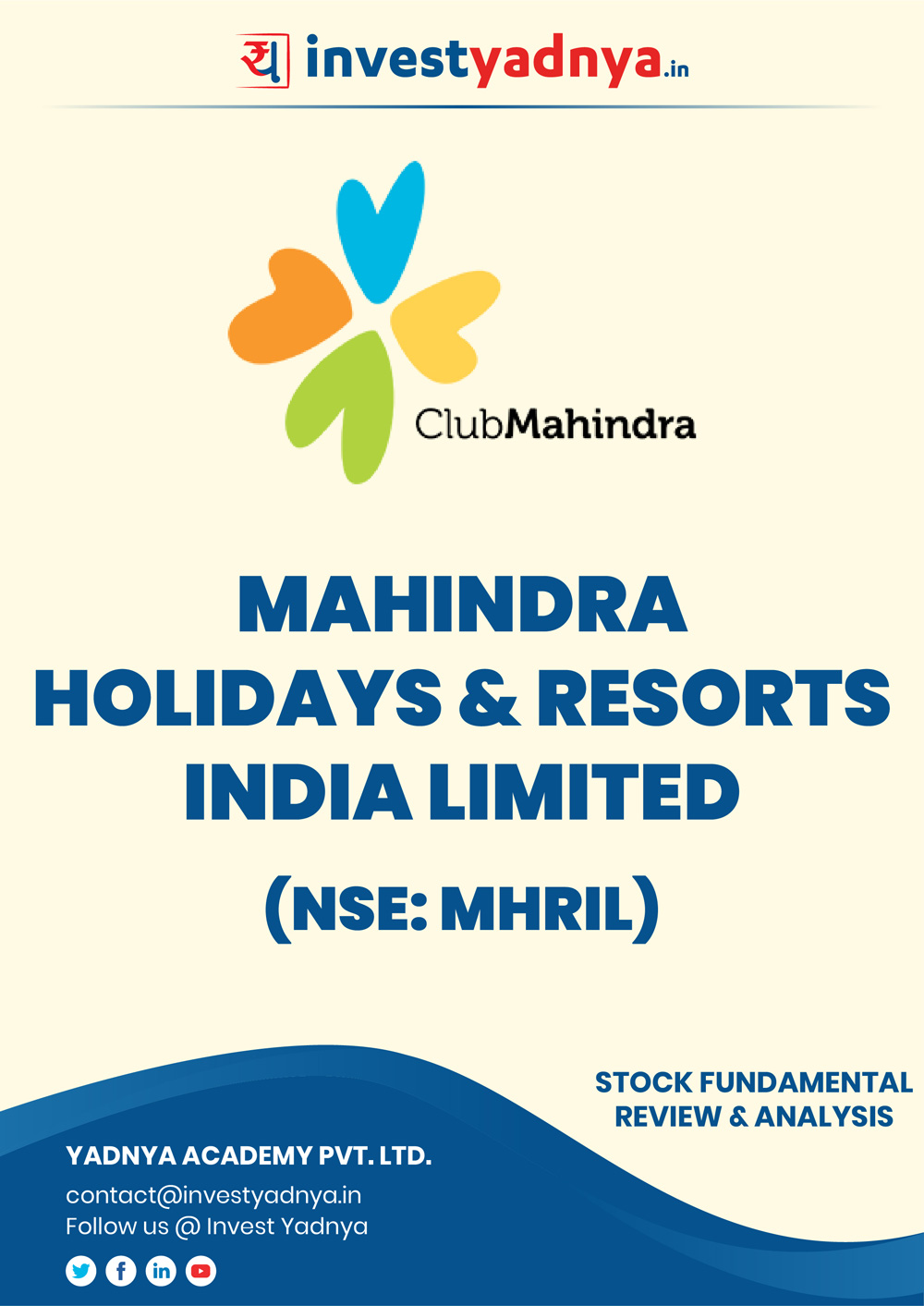 This e-book contains in-depth fundamental analysis of Mahindra Hotel Resorts considering both Financial and Equity Research Parameters. It reviews the company, industry competitors, shareholding pattern, financials, and annual performance. ✔ Detailed Research ✔ Quality Reports